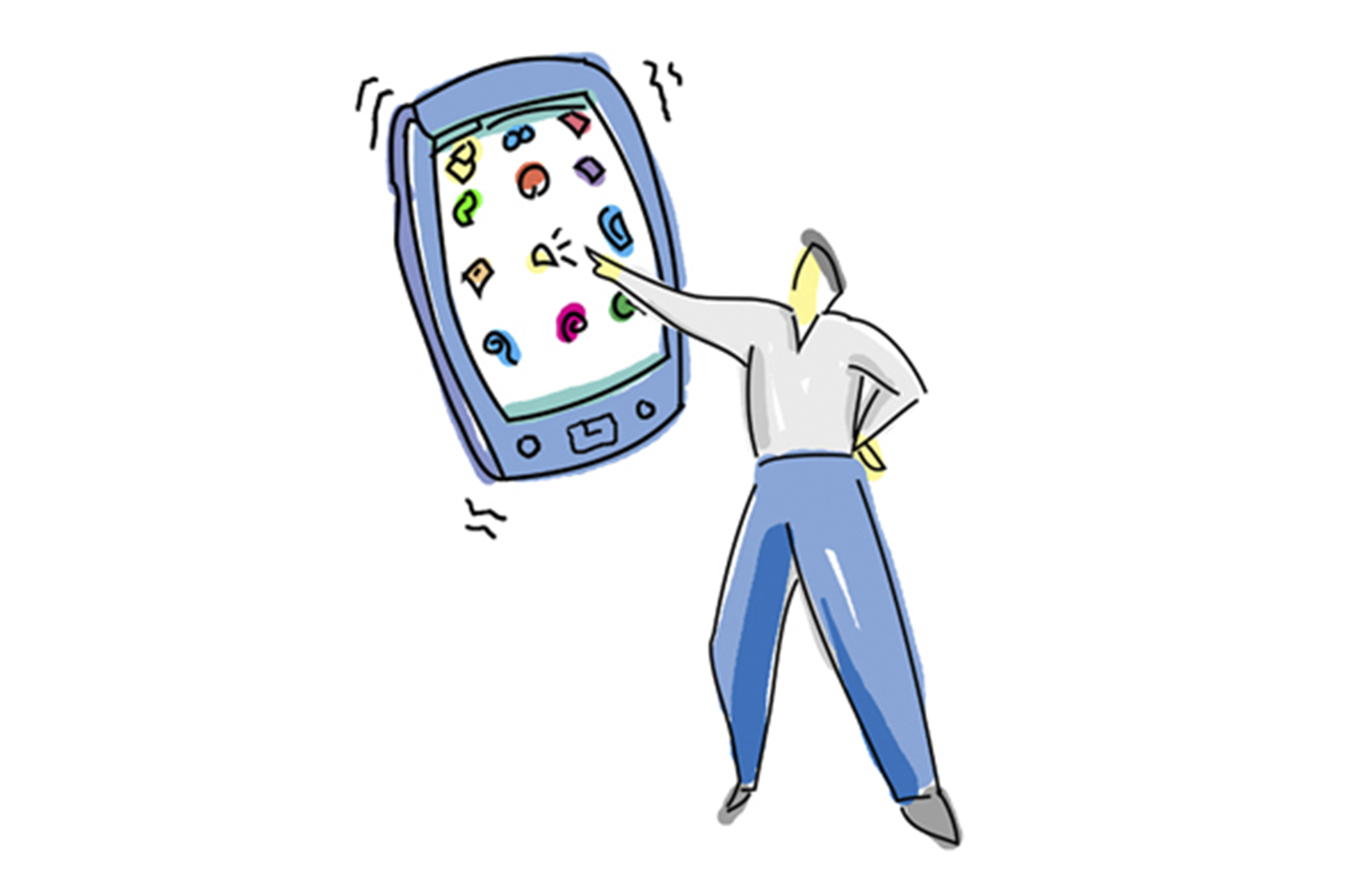 Illustration | Handheld Computing Magazine - PDA Man