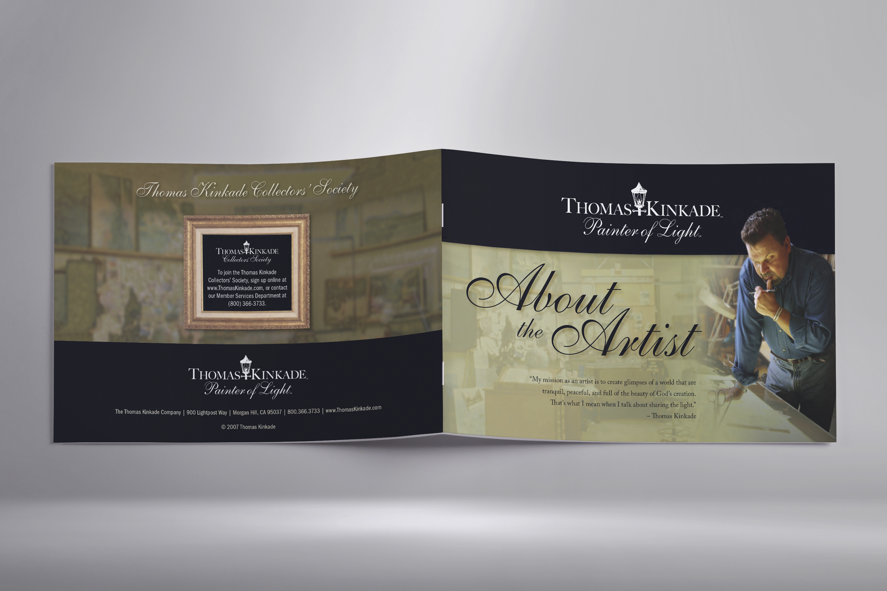 Print Design | About the Artist - Thomas Kinkade Front and Back Cover