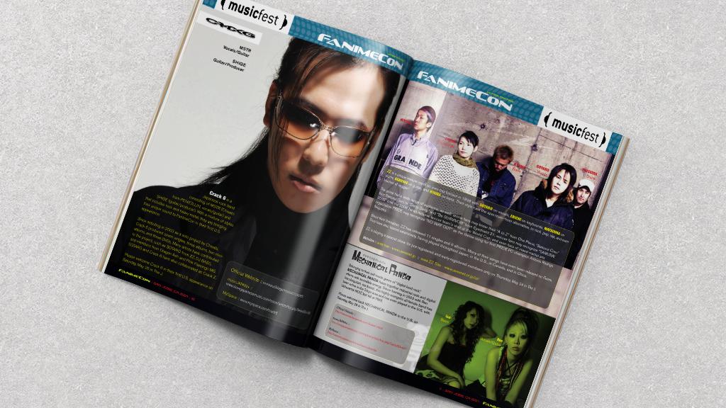 Print Design | FanimeCon Event Program Spread