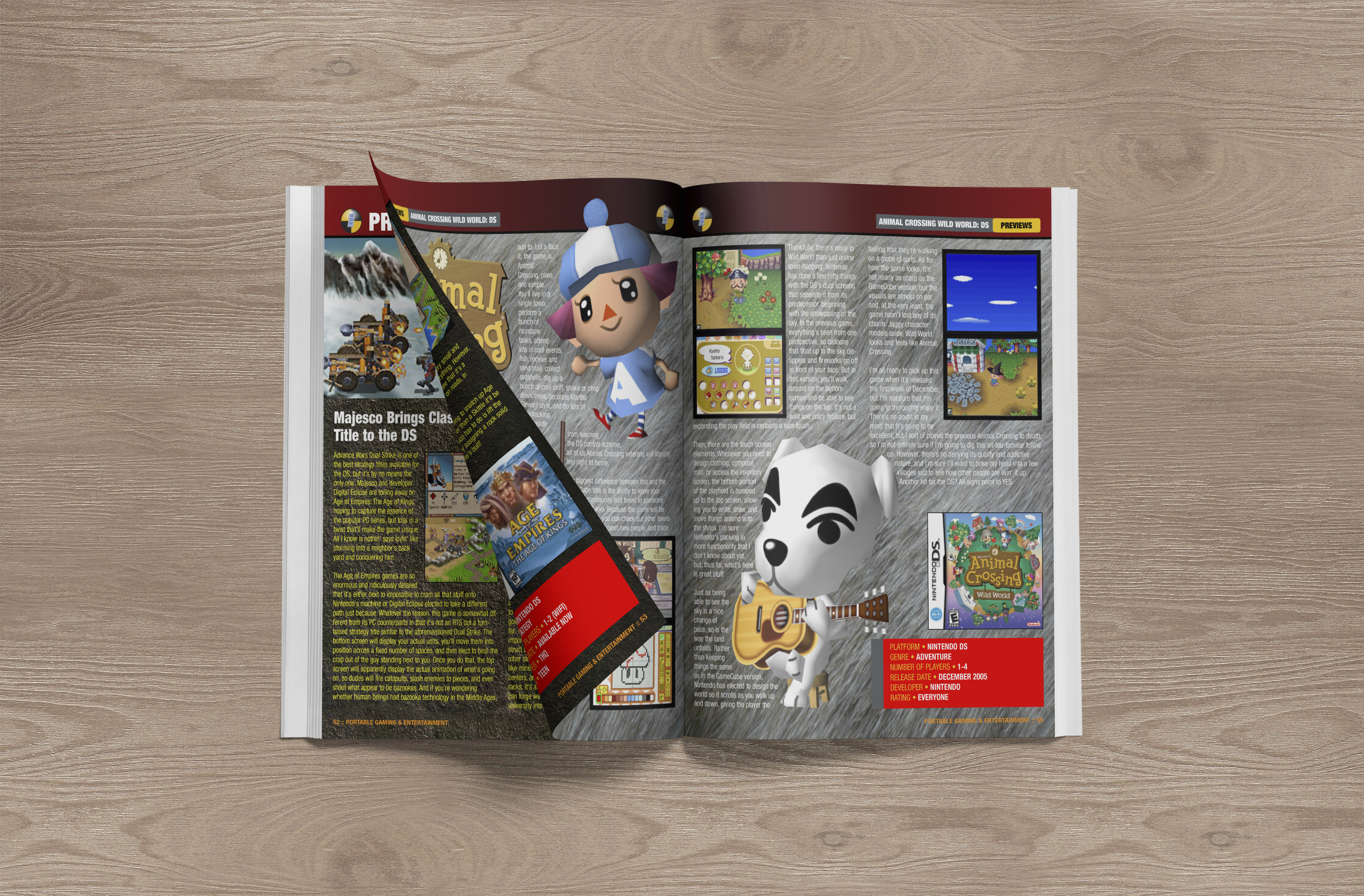 Print Design | Portable Gaming Magazine Spread