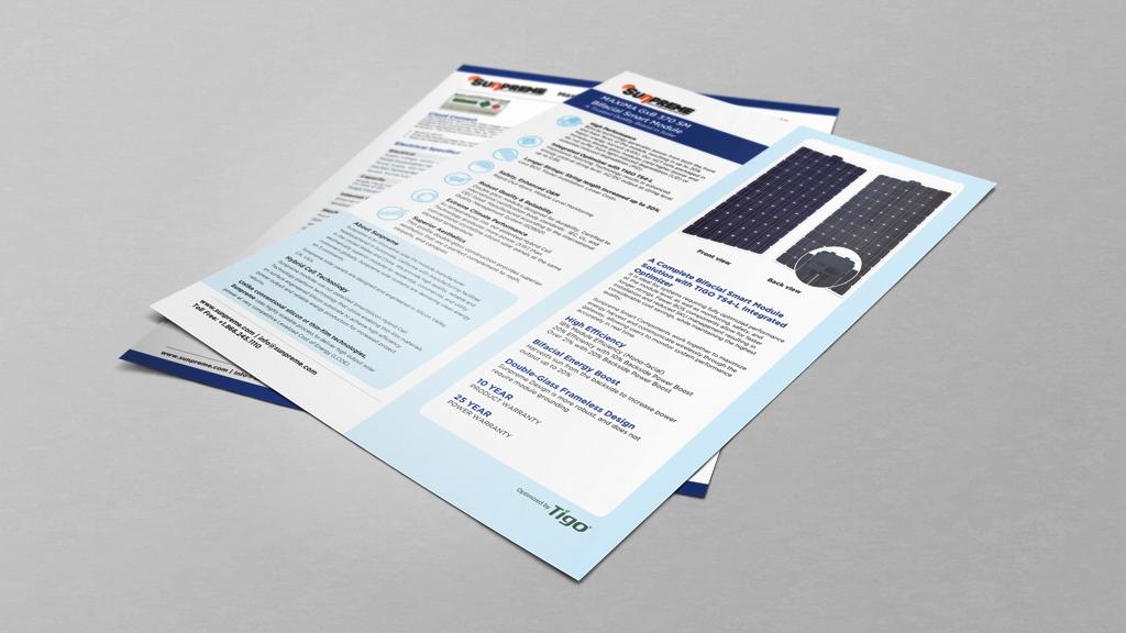 Print Design | Sunpreme Datasheet