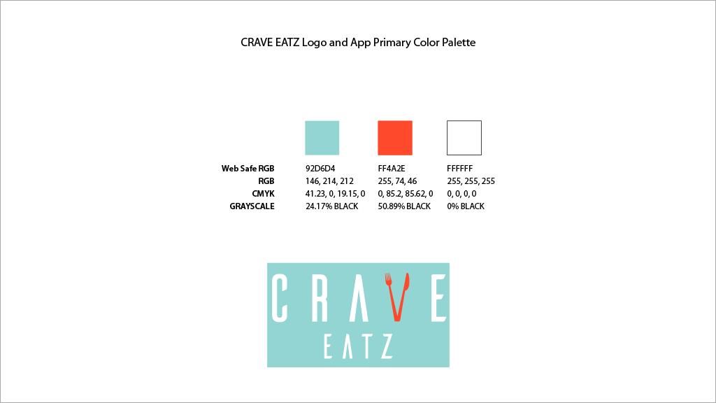Brand Identity | Crave Eatz Color Palette