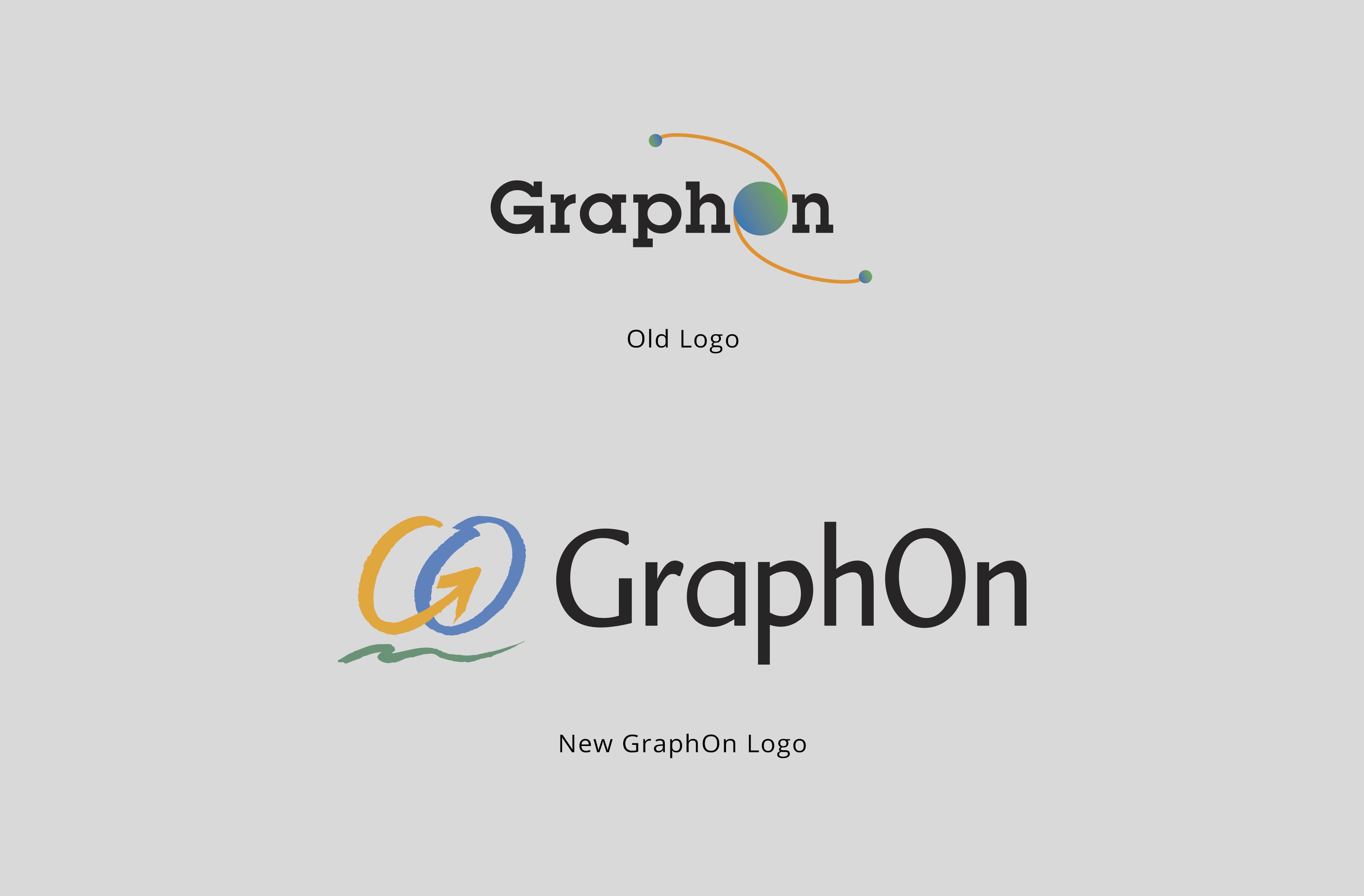 Brand Identity | GraphOn Logo Old vs. New