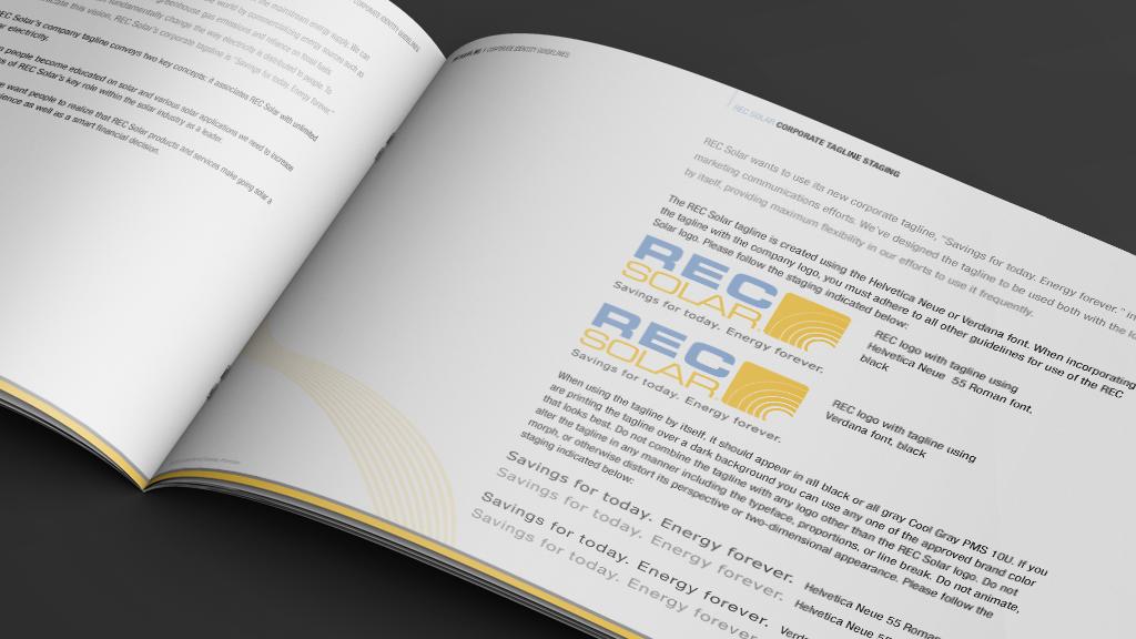 Print Design | REC Solar Brand Manual Logo Details