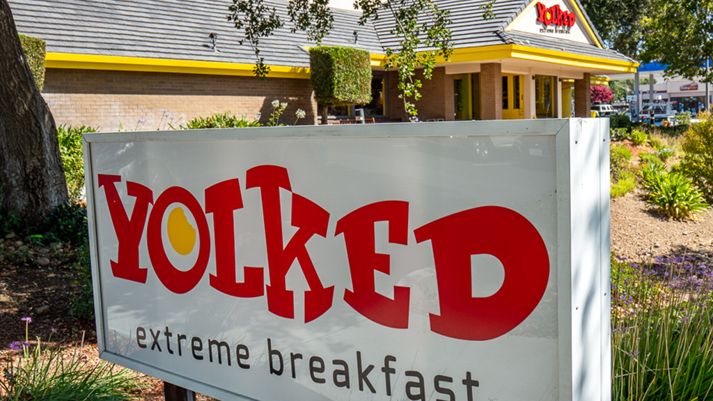 Brand Identity | Yolked Extreme Breakfast Monument Sign